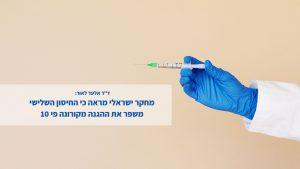 """ד""""ר אלעד לאור - החיסון יעיל"""